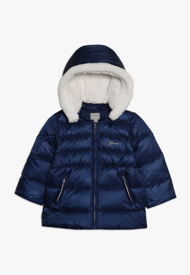 PADDED HOODED JACKET BABY - Gewatteerde jas - deck blue