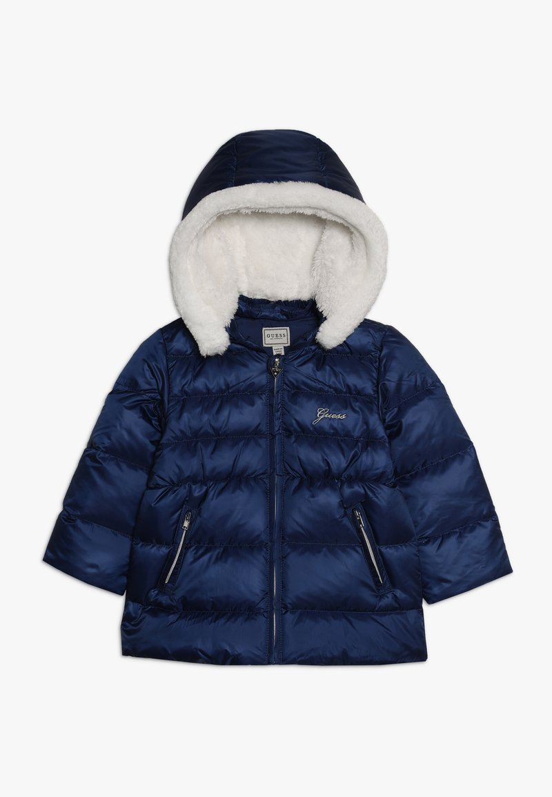 Guess - PADDED HOODED JACKET BABY - Down jacket - deck blue