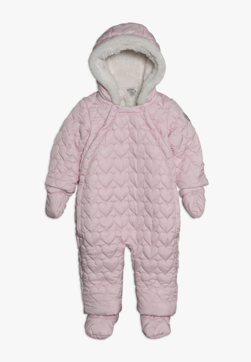 Guess - PADDED HOODED ROMPER BABY - Snowsuit - light pink