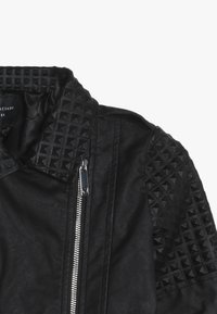 Guess - JUNIOR JACKET MARCIANO - Keinonahkatakki - jet black - 4