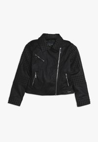 Guess - JUNIOR JACKET MARCIANO - Faux leather jacket - jet black - 0