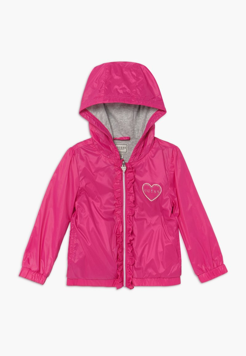 Guess - HOODED JACKET BABY - Lehká bunda - rouge/shocking pink