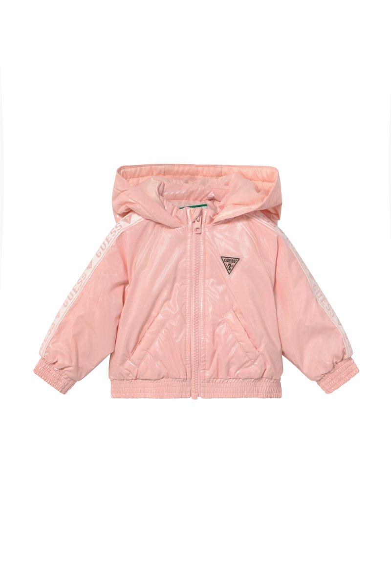 Guess - HOODED ZIPPER BABY - Winter jacket - pink sky