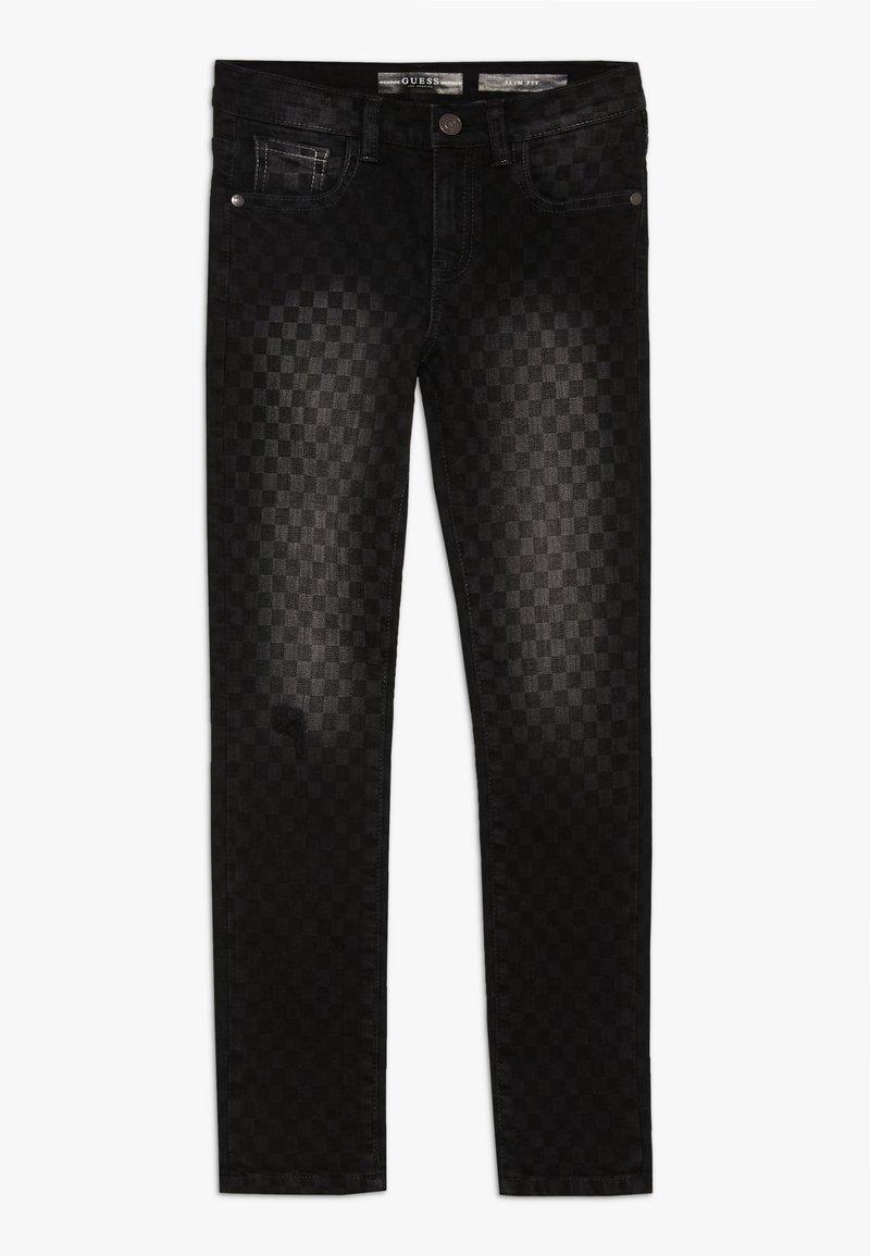 Guess - JUNIOR SKINNY PANTS - Jeans Skinny Fit - black/white