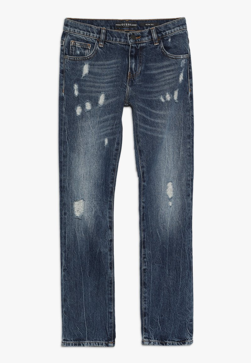 Guess - JUNIOR SLIM PANTS - Slim fit jeans - blue pepper wash