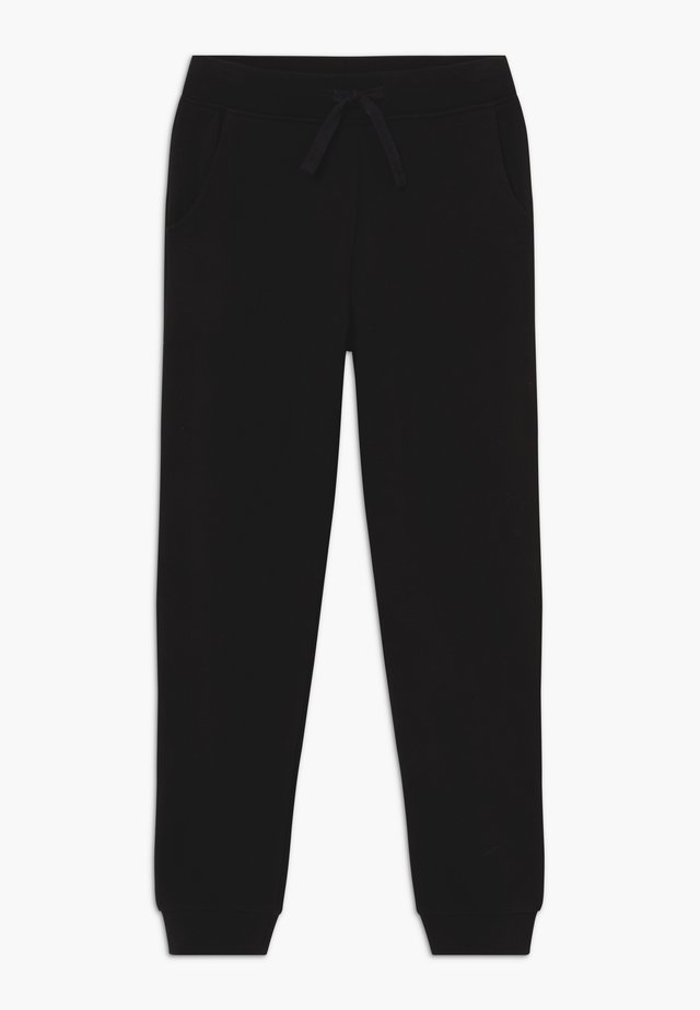 JUNIOR ACTIVE CORE - Tracksuit bottoms - jet black