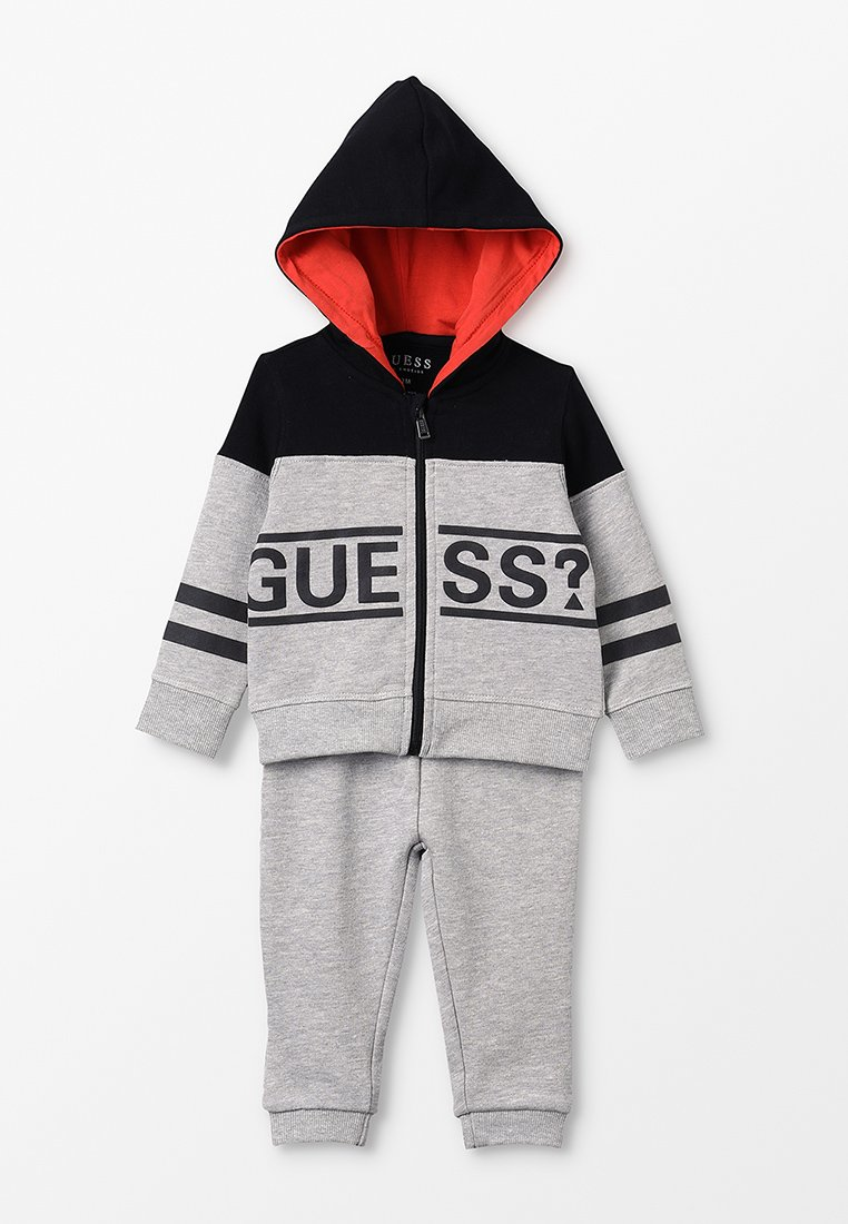 Guess - HOODED PANTS SET - Sweatjacke - light heather grey