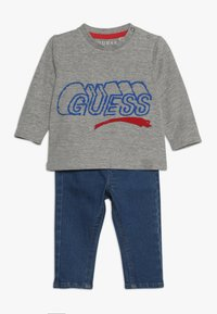 Guess - PANTS BABY SET - Slim fit jeans - light heather grey - 0