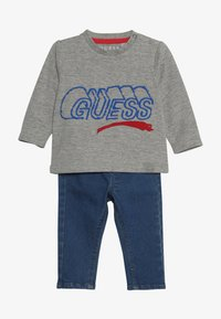 Guess - PANTS BABY SET - Slim fit jeans - light heather grey - 5