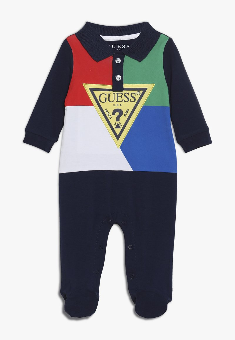 Guess - OVERALL BABY - Jumpsuit - blue/red/white