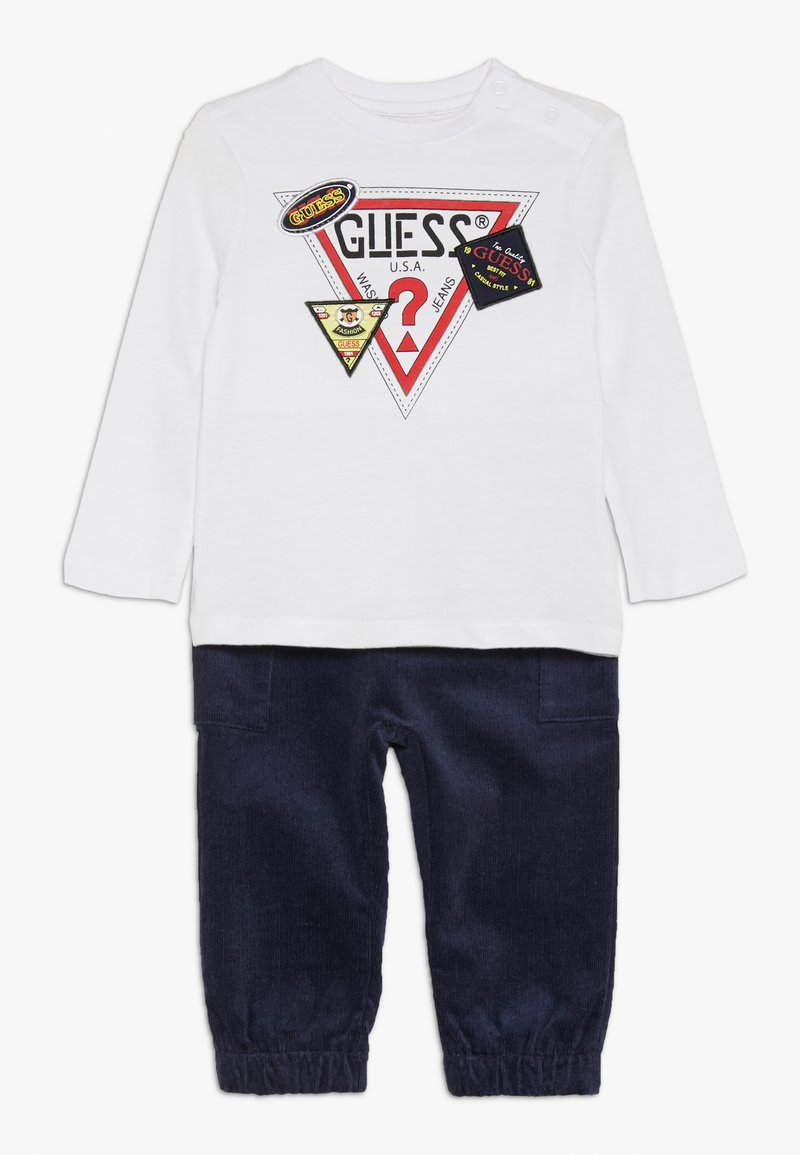 Guess - PANTS BABY SET - Tygbyxor - true white