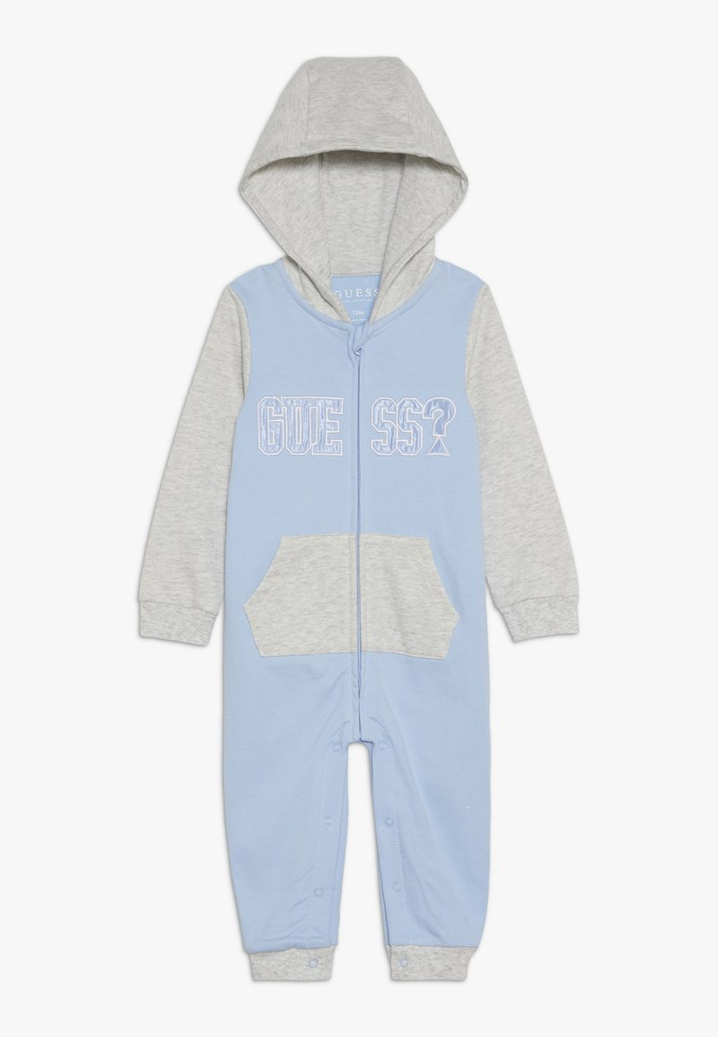 Guess - HOODED OVERALL ZIP BABY - Combinaison - frosted blue