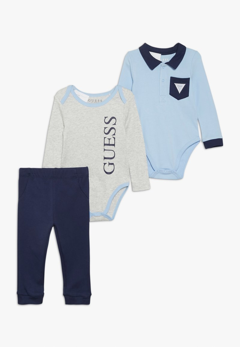 Guess - BODY PANTS BABY SET - Body - blue and grey