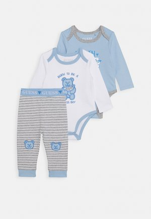 BODY AND PANTS BABY SET - Body / Bodystockings - white/blue combo