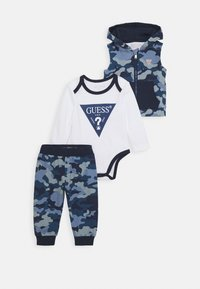 Guess - BABY SET - Chaleco - blue - 0