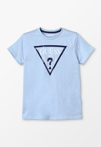 Guess - T-shirt con stampa - frosted blue - 0