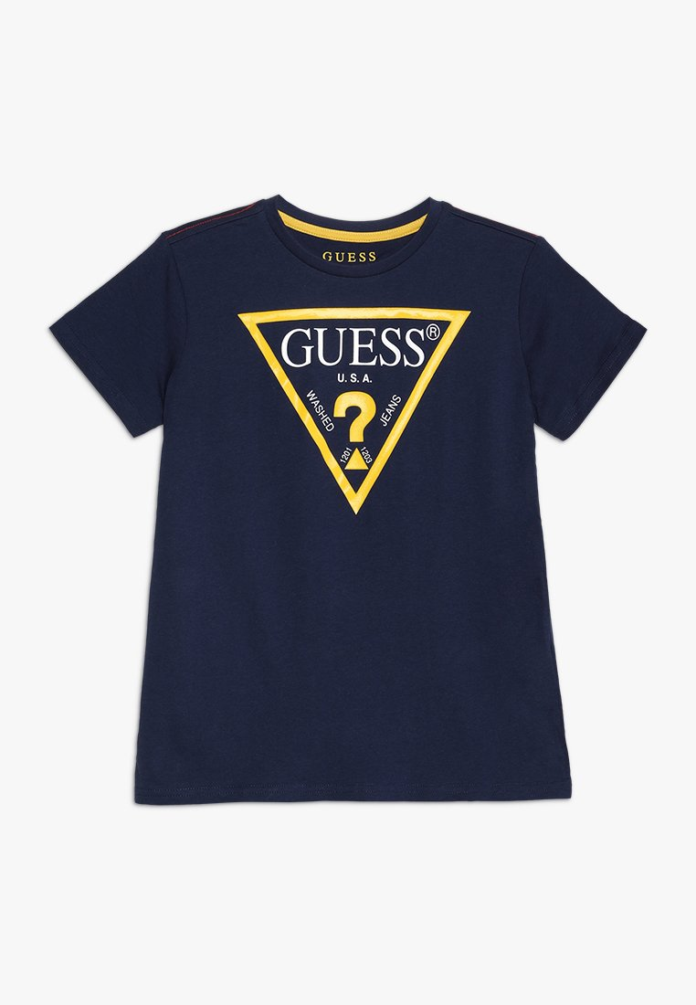 Guess - JUNIOR CORE - Print T-shirt - blue/white