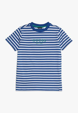 JUNIOR  - Camiseta estampada - blue/white