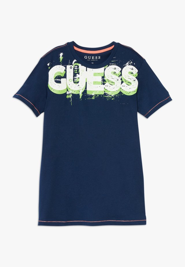 JUNIOR  - T-shirt con stampa - bleu/deck blue