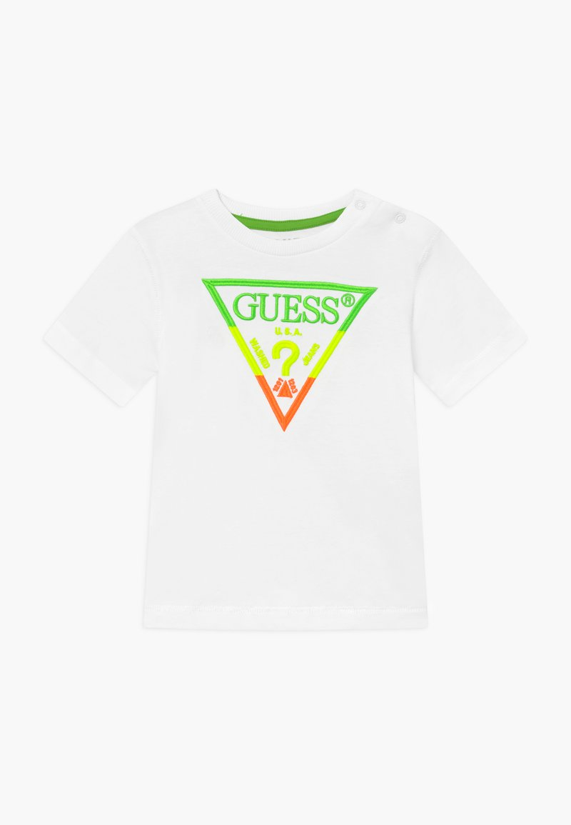 Guess - T-shirt z nadrukiem - blanc pur
