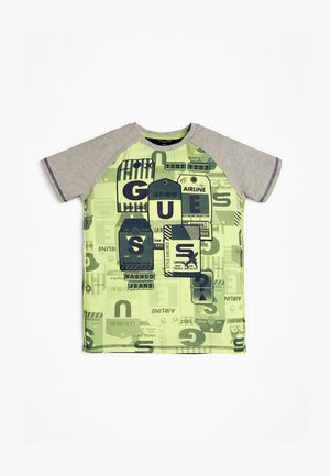 T-SHIRT STAMPA ALL OVER - Print T-shirt - grigio multi
