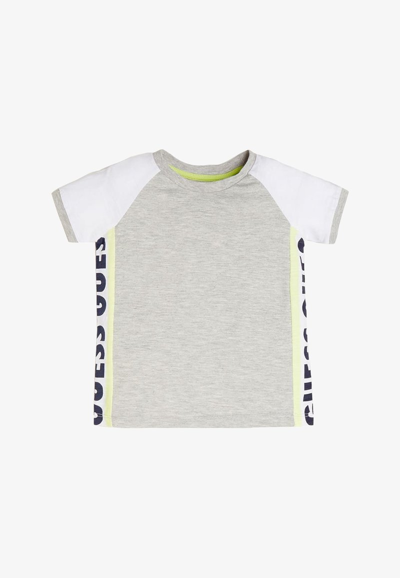 Guess - T-SHIRT LOGO LATERALE - T-shirt imprimé - grigio chiaro