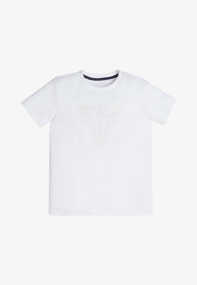 T-SHIRT LOGO TRIANGOLO - T-shirt basic - bianco