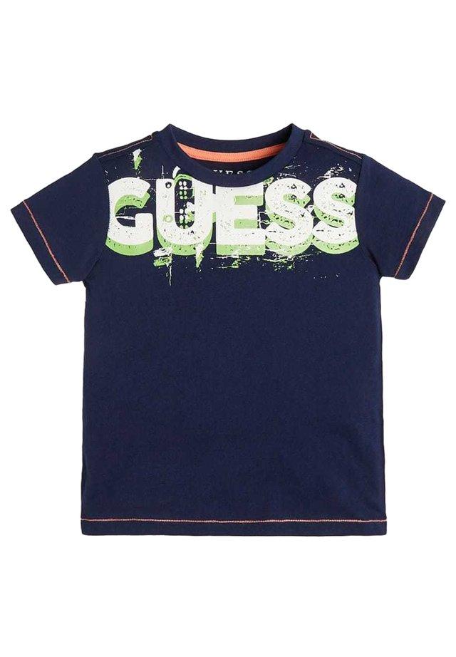 GUESS LOGO - T-shirt basic - blau