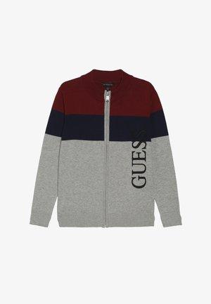 JUNIOR - Gilet - navy/bordeaux/grey