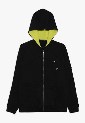 JUNIOR - Zip-up hoodie - jet black