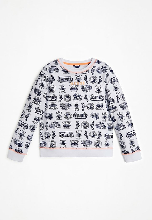 FELPA STAMPA ALL OVER LOGO - Sweater - blu multi