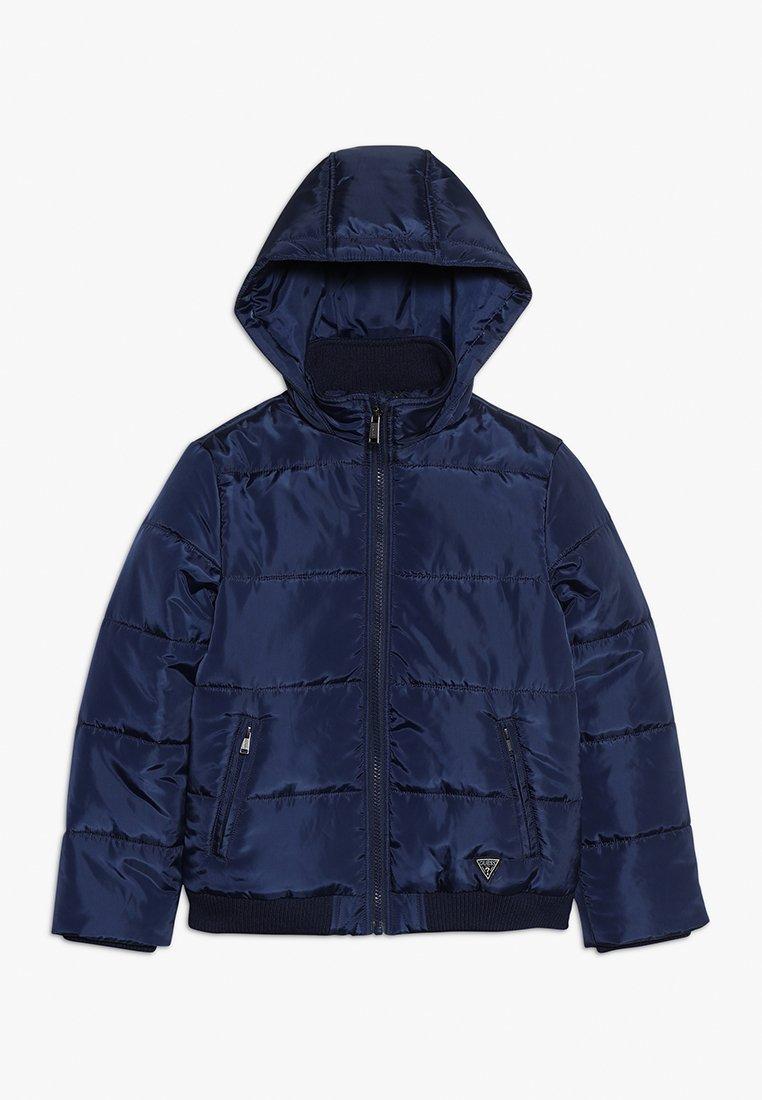 Guess - JUNIOR JACKET WITH HOOD - Winter jacket - deck blue