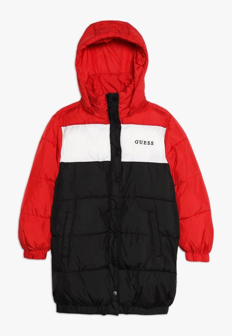 Guess - JUNIOR OVERSIZE PADDED HOODED  - Winterjacke - red/black/white