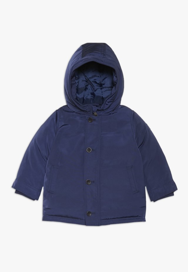 HOODED LONG JACKE BABY - Winterjas - deck blue
