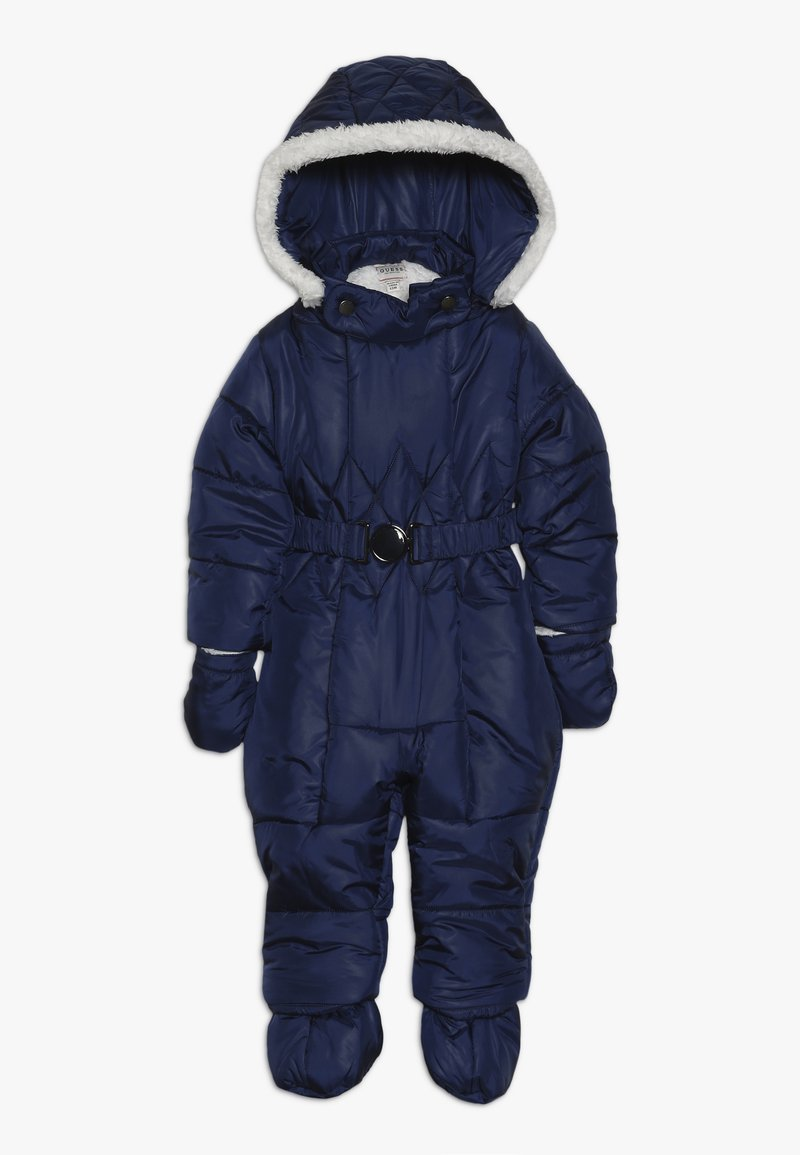 Guess - PADDED OVERALL ROMPER BABY - Snowsuit - deck blue