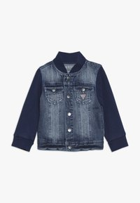 Guess - JACKET SLEEVE BABY - Veste en jean - jordi faded blue - 0