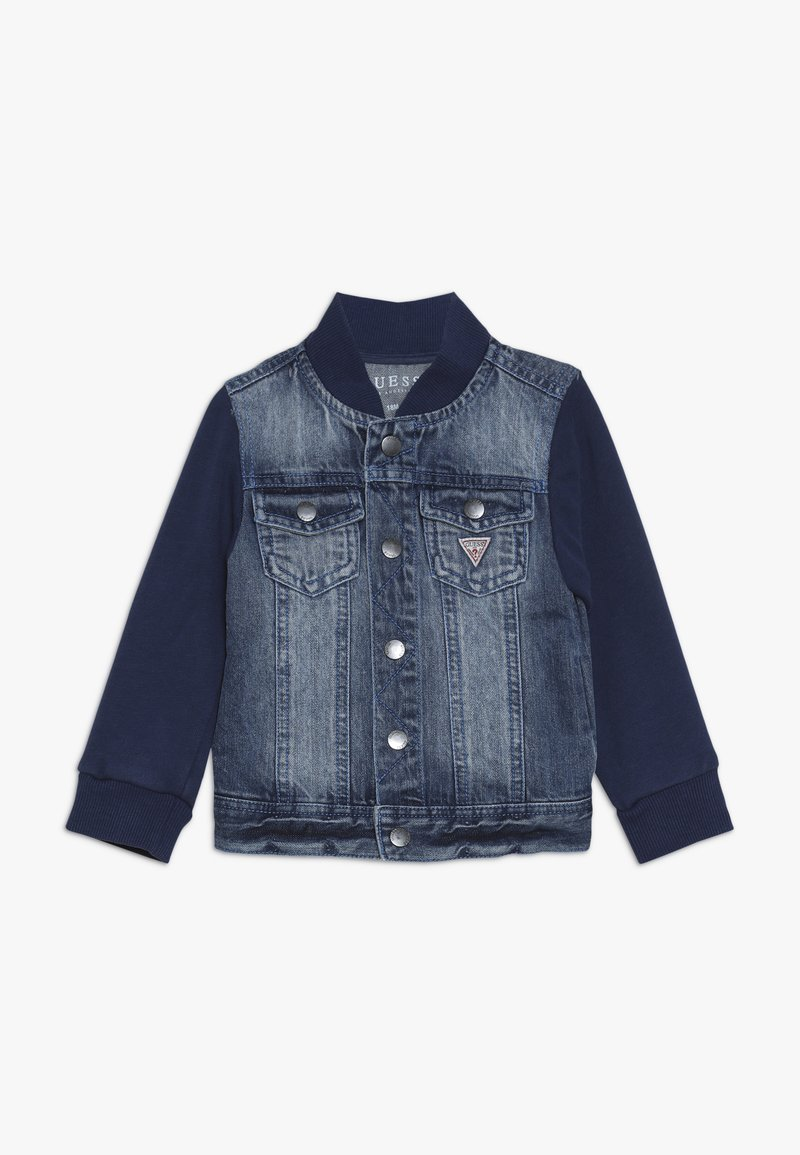 Guess - JACKET SLEEVE BABY - Veste en jean - jordi faded blue