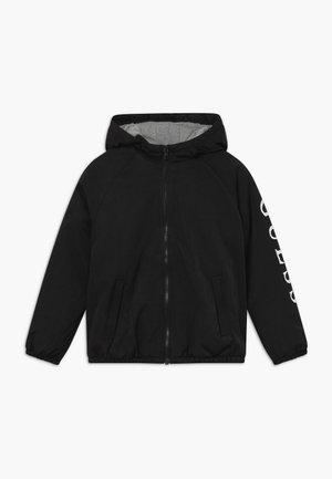 JUNIOR HOODED ZIPPER - Winter jacket - jet black