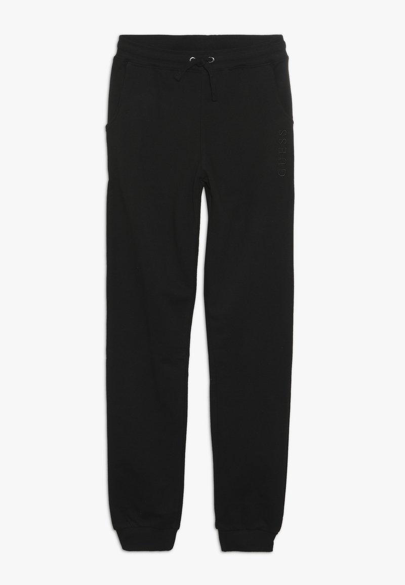 Guess - JUNIOR UNISEX ACTIVE PANTS - Teplákové kalhoty - jet black
