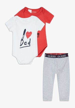 BABY SET - Body - red and grey combo