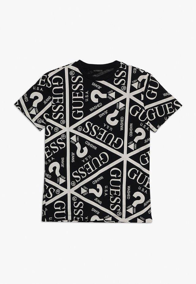 JUNIOR UNISEX OVERSIZE ICON - T-shirt con stampa - jet black