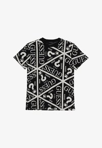 Guess - JUNIOR UNISEX OVERSIZE ICON - Print T-shirt - jet black - 2