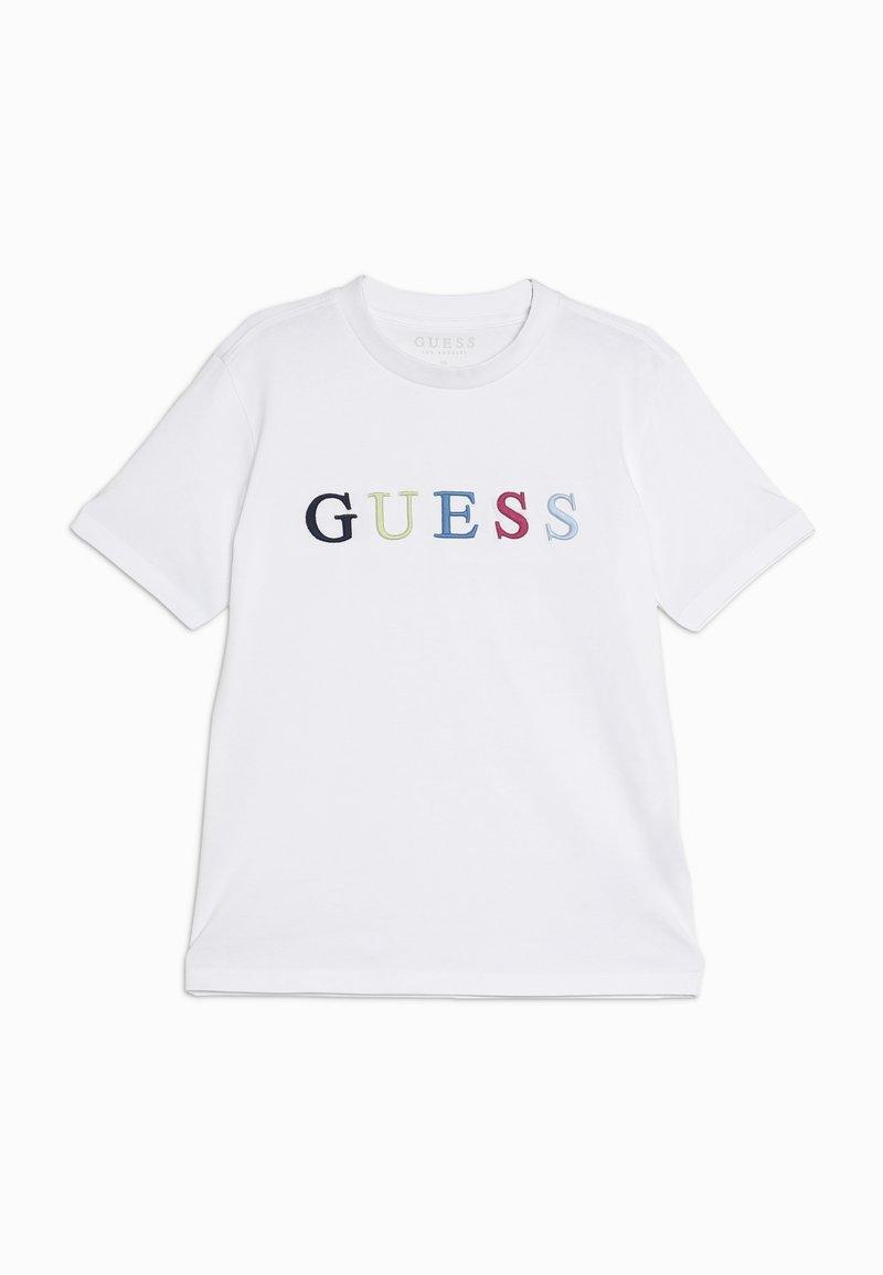 Guess - JUNIOR UNISEX  - T-shirt z nadrukiem - true white