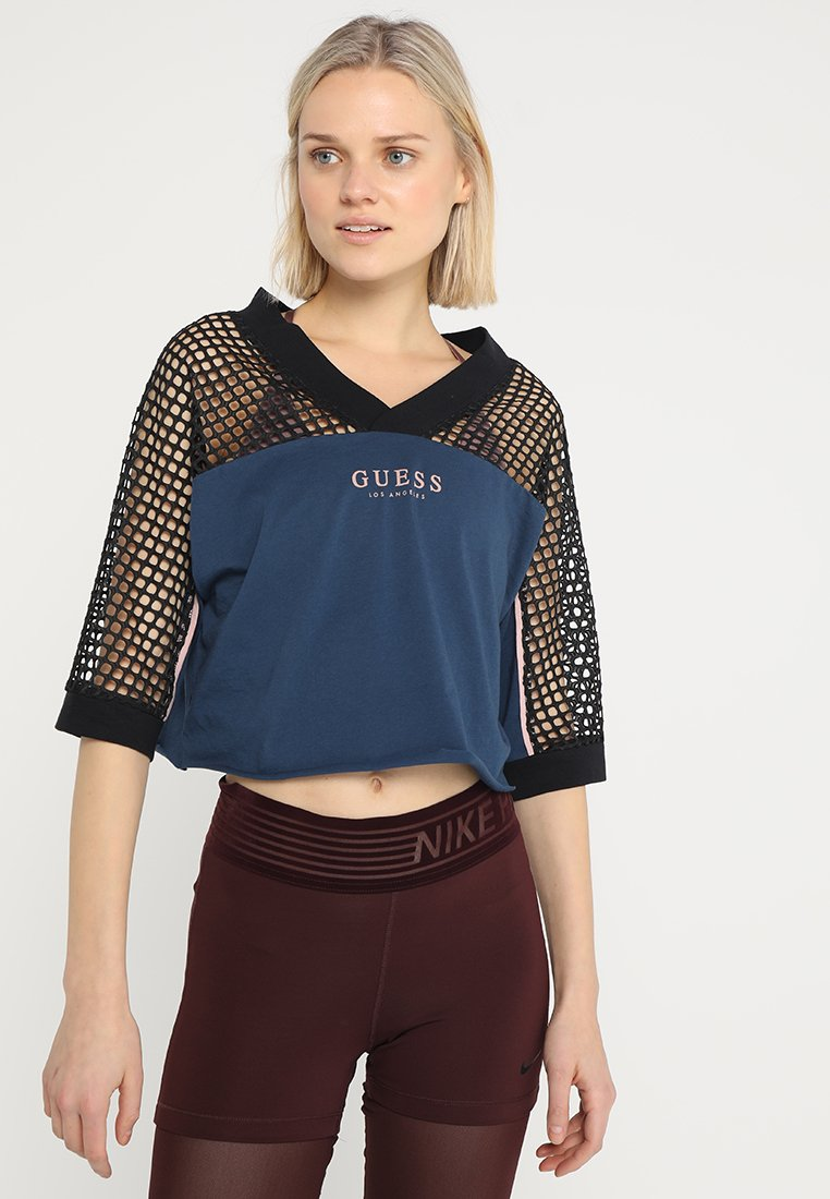 Guess - Camiseta estampada - blue peony