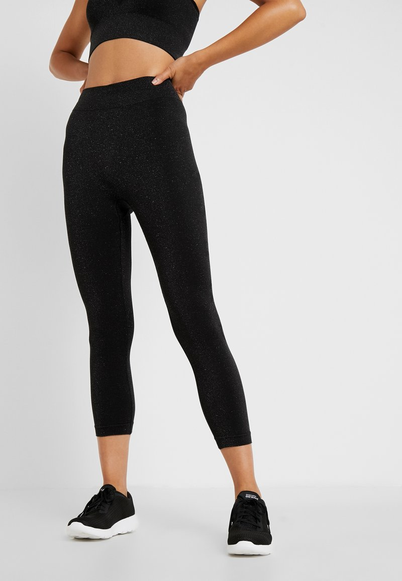Guess - LEGGINGS - Tights - jet black/frost