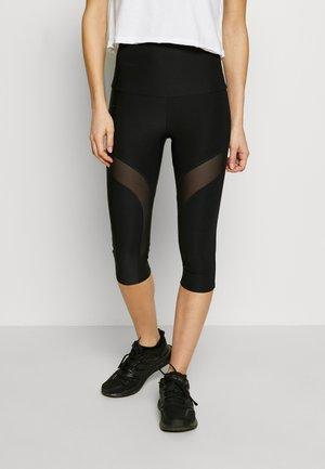 LEGGINGS - 3/4 sports trousers - jet black