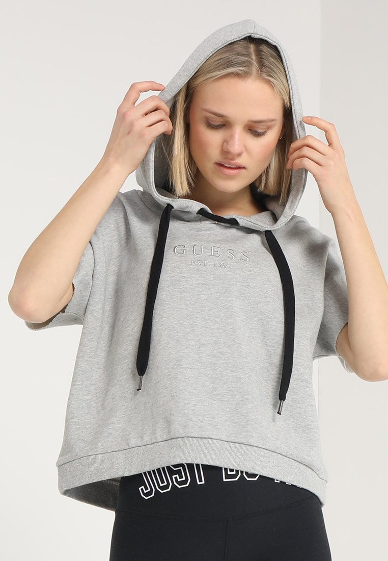 Guess - HOODED  - Sweatshirt - light heather grey