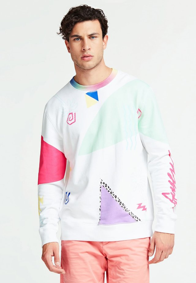 SWEAT-SHIRT IMPRIME ALL-OVER - Sweater - white