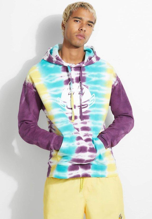 Bluza z kapturem - mehrfarbig violett