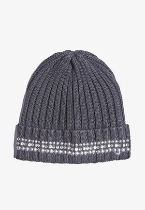 MIT STRASS - Bonnet - dark grey